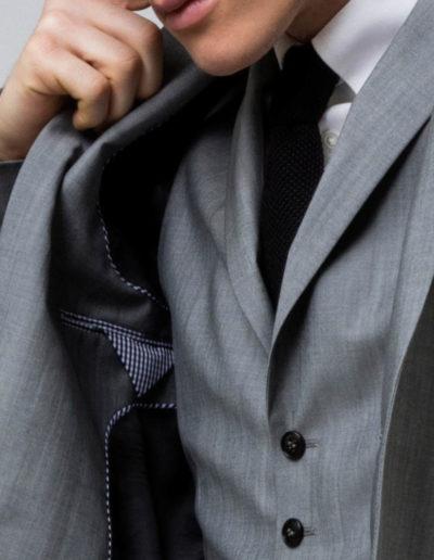 samson sur mesure - Costume 3 pièces sur mesure en toile de laine et kid mohair - 4