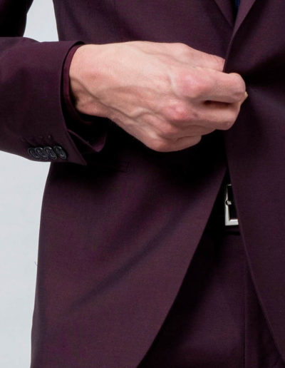 samson sur mesure - Costume sur mesure en toile super 120's bordeaux Brice - 4