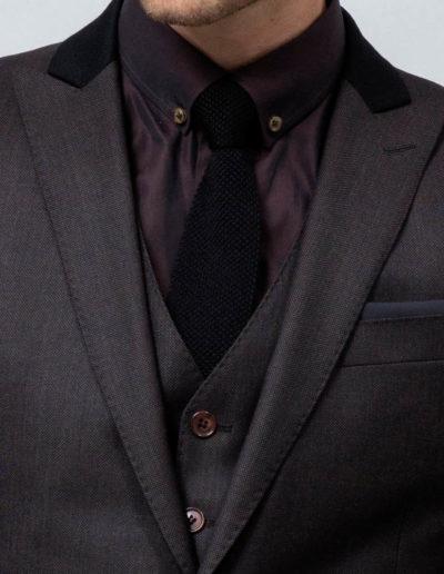 samson sur mesure - Costume trois pièces sur mesure en caviar bronze Bilal - 2
