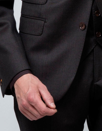 samson sur mesure - Costume trois pièces sur mesure en caviar bronze Bilal - 3