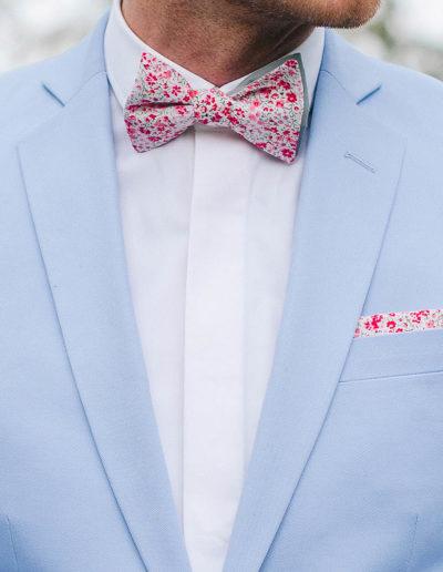 samson sur mesure - Mariage - Costume sur mesure en gabardine de coton ciel Palerme - 2