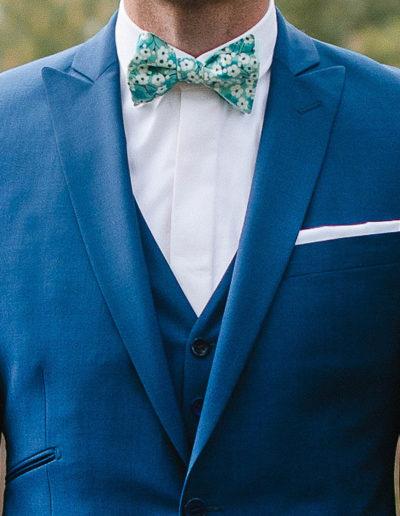 samson sur mesure - Mariage - Costume sur mesure en toile de laine et kid mohair bleu canard Trieste - 2