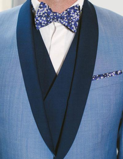 samson sur mesure - Mariage - Smoking sur mesure en toile bleu ciel Syracuse - 2