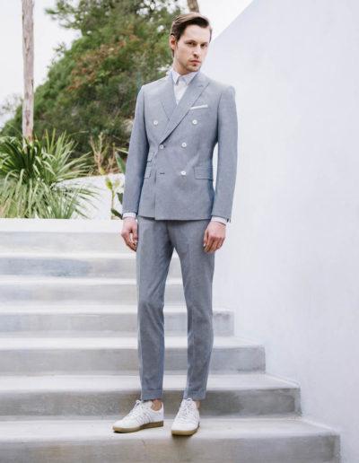 samson sur mesure été 2018 - 1 - Costume croisé en coton ciel - Earl - 1