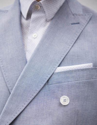 samson sur mesure été 2018 - 1 - Costume croisé en coton ciel - Earl - 2
