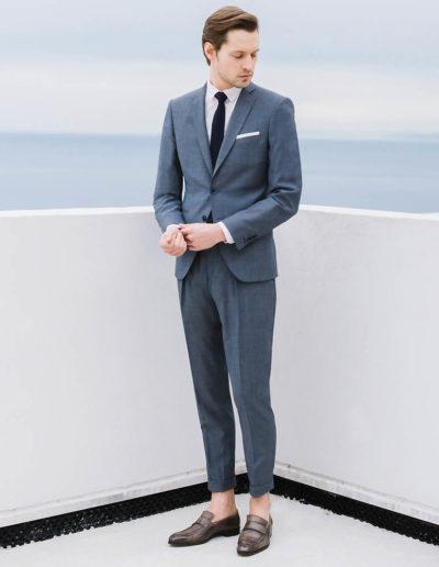 samson sur mesure été 2018 - 2 -Costume droit à pantalon carotte - Ethan - 1