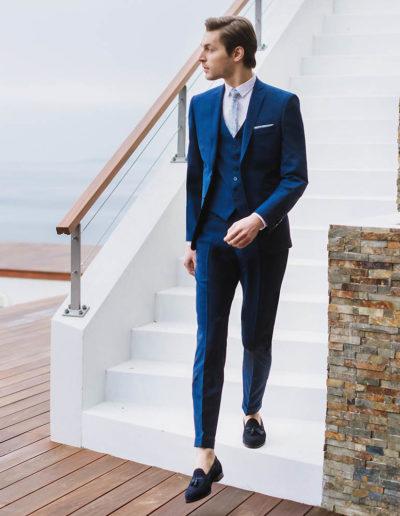 samson sur mesure été 2018 - 3- Costume 3 pièces, bleu profond - Eliot - 1
