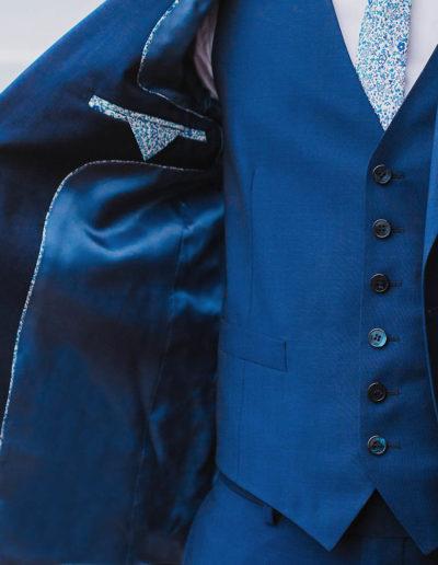 samson sur mesure été 2018 - 3- Costume 3 pièces, bleu profond - Eliot - 3