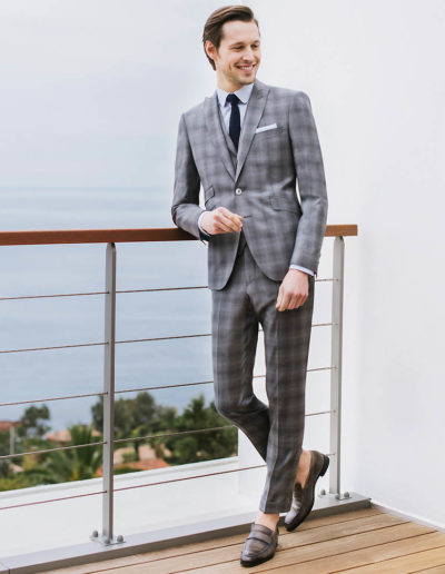 samson sur mesure été 2018 - 4- Costume 3 Pièces en Prince de Galles gris - Errol - 1