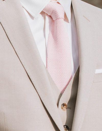 samson sur mesure été 2018 - 5 - Costume 3 Pièces en coton, soie et lin, beige - Ellis - 2