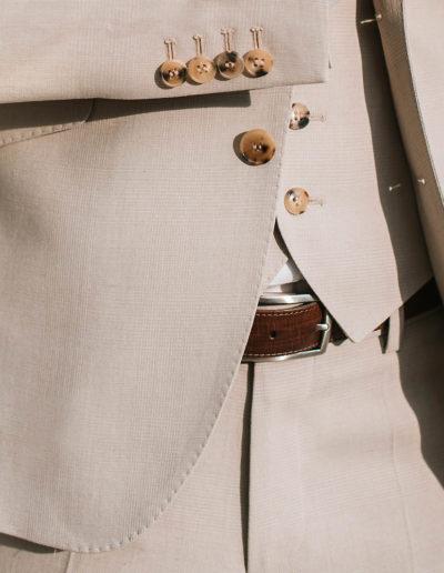 samson sur mesure été 2018 - 5 - Costume 3 Pièces en coton, soie et lin, beige - Ellis - 3