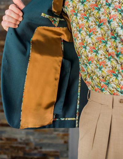 samson sur mesure été 2018 - 9 - Veste vert paon sur chemise hawaïenne - Emmet - 3