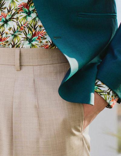 samson sur mesure été 2018 - 9 - Veste vert paon sur chemise hawaïenne - Emmet - 4