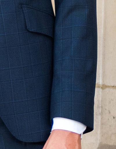 samson sur mesure - Costume 3 pièces prince de galles bleu - Dean - 3