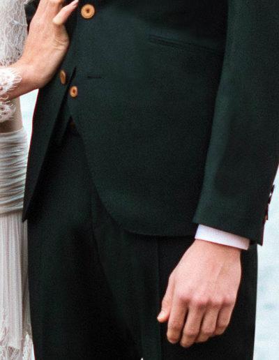 samson sur mesure mariage - Costume 3 pièces vert sapin - Trevise - 3