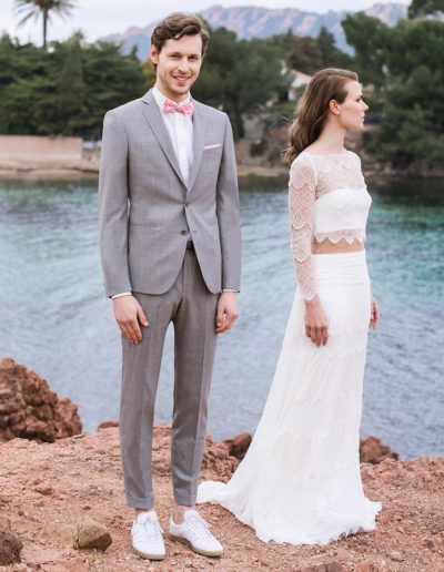 samson sur mesure mariage - Costume gris clair - Ferrare - 1