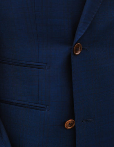 samson sur mesure mariage - Veste croisée bleu sur pantalon grenat- Fiumicino - 4