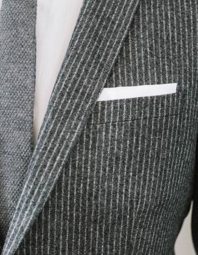 samson sur mesure hiver 2018-19 - 1 - Costume de flanelle à Rayures Craie - Flavio - 2