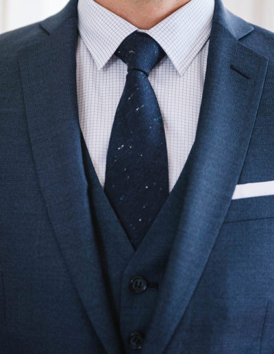 samson sur mesure hiver 2018-19 - 5 - Costume 3 pièces en Fil à Fil Bleu- Florian - 2