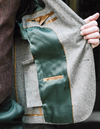 samson sur mesure hiver 2018-19 - 9 - Veste sur mesure en tweed vert pâle - Foster - 3