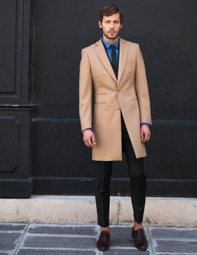 samson sur mesure hiver 2018-19 - M1 - Manteau en drap de laine camel - Mahel - 3