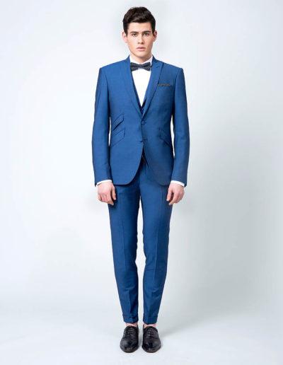 samson sur mesure - Mariage - Costume sur mesure 3 pièces bleu intense Véronne - 1