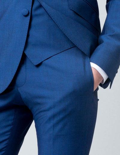 samson sur mesure - Mariage - Costume sur mesure 3 pièces bleu intense Véronne - 3