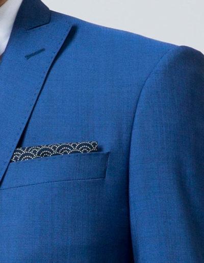 samson sur mesure - Mariage - Costume sur mesure 3 pièces bleu intense Véronne - 4