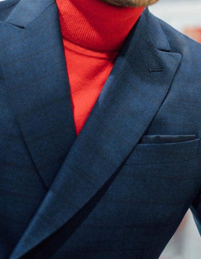 Samson sur mesure - hiver 2019-2020 -costume croisé bleu - Handi - 3