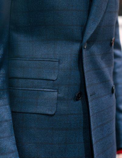 Samson sur mesure - hiver 2019-2020 -costume croisé bleu - Handi - 4