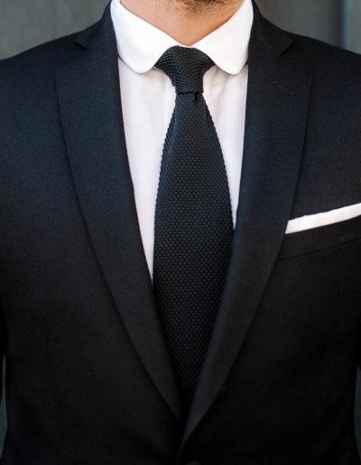 Samson sur mesure - hiver 2019-2020 - costume flanelle noire - Harry - 6
