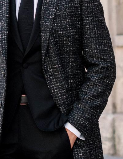 Samson sur mesure - hiver 2019-2020 -manteau tweed gris - Maxim - 2