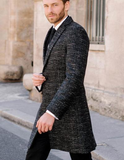 Samson sur mesure - hiver 2019-2020 -manteau tweed gris - Maxim - 6