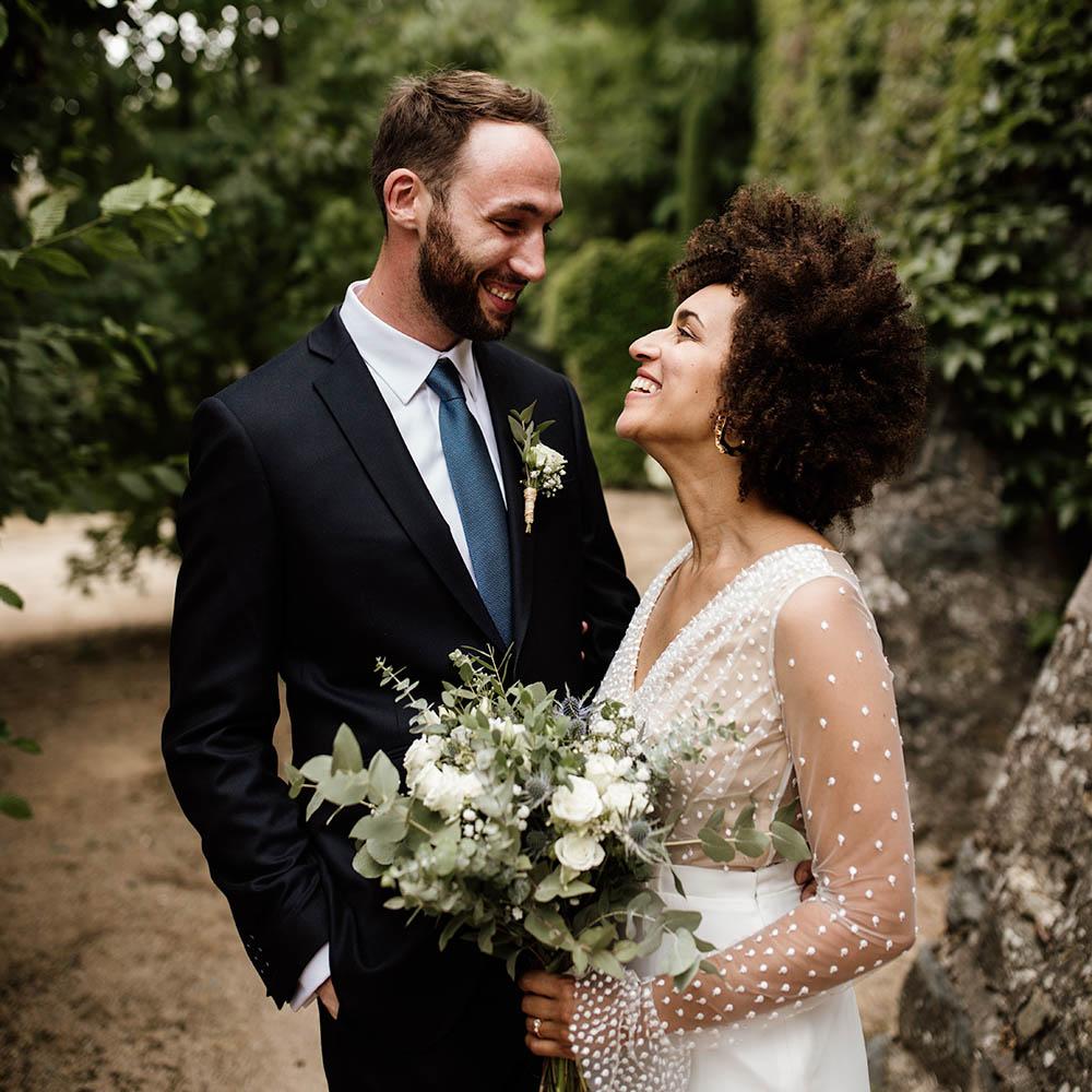 A & B - Photographe : Coralie Lescieux / Robe de mariée : Rime Arodaky