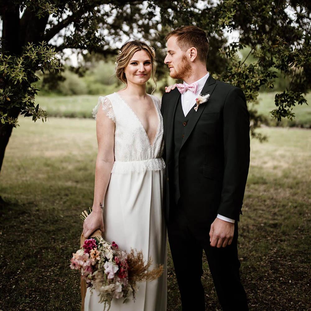 C & M - Photographe : Coralie Lescieux / Robe de mariée : Lora Folk