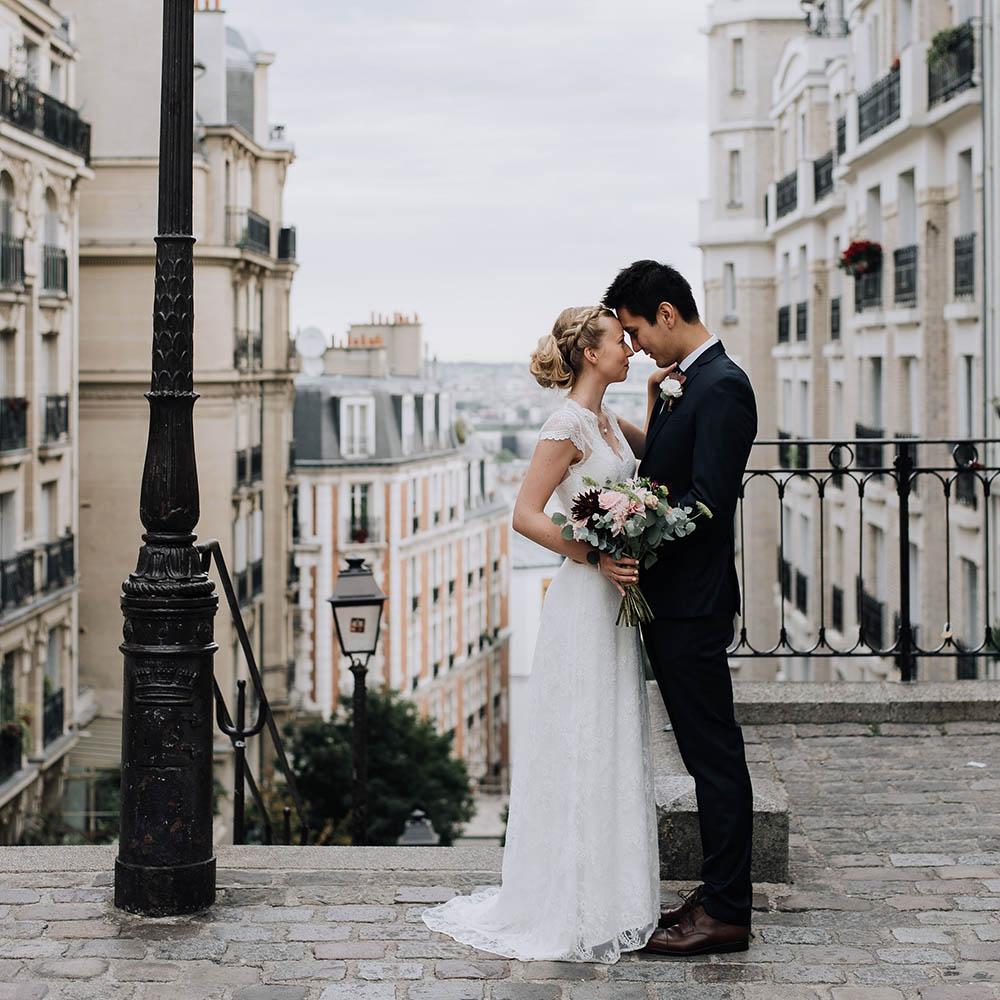 O & C - Photographe : Harmonie Photographie / Robe de mariée : Ivy & Oak Bridal