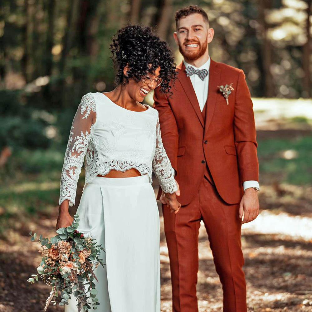 A & L - Photographe : AN LALEMANT GALLERIES / Robe de mariée : Lora Folk