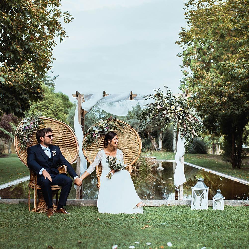 E & P - Photographe : Keisy and rocky photography / Robe de mariée : Laure de sagazan