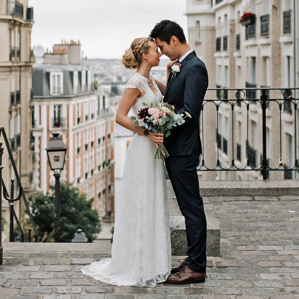 E & S - Photographe : Kewin Connin Jackson / Robe de mariée : Laurent Kapelski Paris